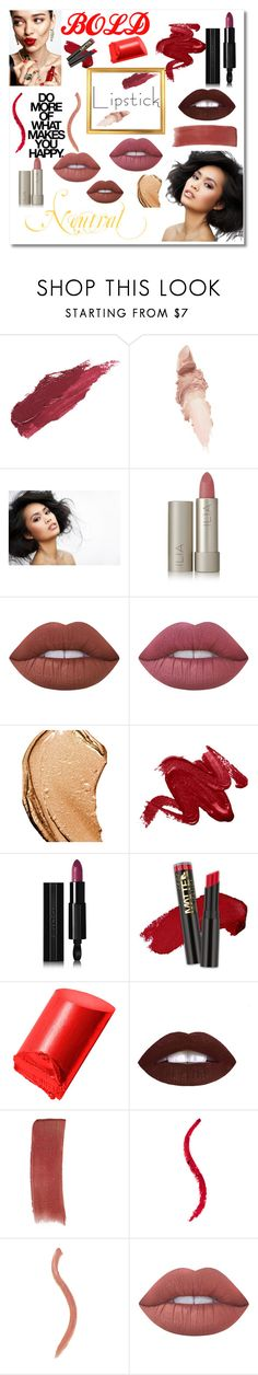 """""""Bold vs. Neutral"""" by niki-allen0119 ❤ liked on Polyvore featuring beauty, KAROLINA, Lily Lolo, Maybelline, Ilia, Lime Crime, Tom Ford, Givenchy, L.A. Girl and Bobbi Brown Cosmetics"""