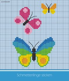 Bunte Schmetterlinge sticken Embroider colorful butterflies / The post Embroider Colorful Butterflies … appeared first on Embroidery and Stitching. Butterfly Cross Stitch, Butterfly Embroidery, Learn Embroidery, Cross Stitch Flowers, Machine Embroidery, Cat Cross Stitches, Needlepoint Stitches, Needlepoint Kits, Cross Stitch Patterns