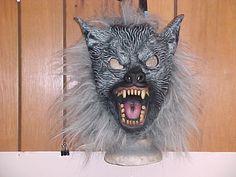 Brand New Never Worn Scary Werewolf/Halloween Rubber Mask/Child Size Medium/Rare