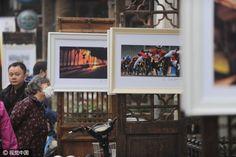 Nostalgic photo exhibition in Beijing's old street