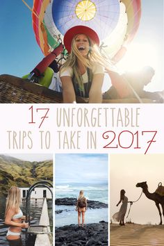 I always feel a bit nostalgic after the new year. Thinking back over 2016, I've had some extraordinary adventures. It was an incredible year that took me from South America to South Africa and beyond. Searching for some 2017 travel inspiration? Check out some of my favorite trips of all time and a few destinations I can't wait to check off my bucket list. Here are 17 unforgettable trips to take in 2017!