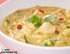 Sopa de pavo al curry