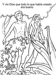 dibujos para colorear de la expulsion de adan y eva - Buscar con Google