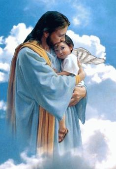 Jesus said in Matthew - That in heaven their angels do always behold the face of my Father which is in heaven. Pictures Of Jesus Christ, Religious Pictures, Religious Art, Jesus Art, Jesus Is Lord, Jesus Lives, Jesus Loves You, Christian Images, Christian Art