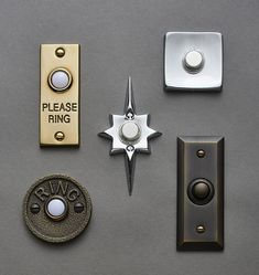 Mid-Century Square Doorbell Button | Rejuvenation