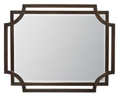 Jet Set Mirror with Cutout Frame Detail by Bernhardt at Sprintz Furniture Wood Framed Mirror, Wall Mounted Mirror, Beveled Mirror, Mirror Mirror, Quinta Interior, Double Pedestal Dining Table, Wood Picture Frames, Floor Design, Decoration