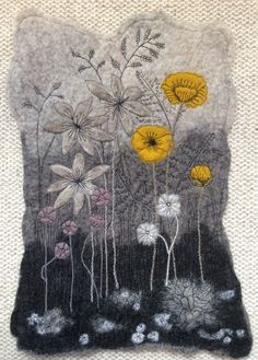 I am currently offering a variety of workshops in both Textiles and Feltmaking to various creative groups within Lincolnshire and further afield. Whether you are an absolute beginner, or you are w… Free Motion Embroidery, Hand Embroidery, Machine Embroidery, Textile Fiber Art, Textile Artists, Wet Felting, Needle Felting, Textiles, Spa Art