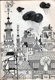 Daniel Doppsko - Swedish children's book by Lennart Hellsing, illustrations by Stig Lindberg