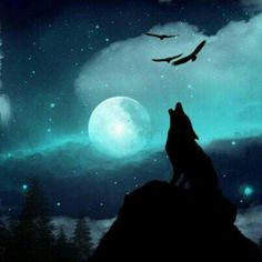 medicine man (Call of the wolf) On a cold moonlit night, with snow upon the ground, majestic mountains standing tall, where no soul is found, only the medicine man, with his palette round. In the distance, a hooting owl, as he takes to flight, or the faint bobcat growl, as he vanishes from sight, then silence, as the medicine man chants long into the night. Suddenly a heart-felt cry; a wolf stands by the tree, with his amber soulful eyes, appearing magically, like a spirit, roaming wild and…