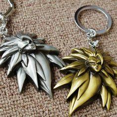 Dragon Ball Z Logo Silver Metal Keychain