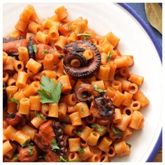 Greek Beauty, Greek Recipes, Kitchen Gadgets, Octopus, Macaroni, Cantaloupe, Recipies, Food And Drink, Easy Meals