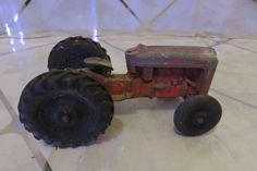 Vintage 1960'S FORD TOOTSIETOY Farm Toy Tractor Great Restore Project Tractor #TootsieToy #FORD