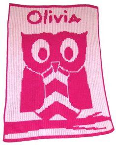 Owl Personalized Stroller Blanket or Baby Blanket
