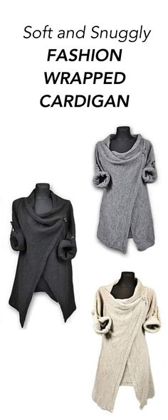Soft and Snuggly Fashion Wrapped Cardigan: When the weather is getting crispy cool and you are all wrapped up running errands and working on your wish list ,this season's best snuggly soft cardigan can come to your rescue.