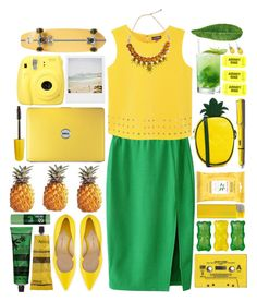"""#398 pineapple"" by blueberrylexie ❤ liked on Polyvore featuring ASOS, Paul Andrew, Vince Camuto, Aesop, Burt's Bees, The Body Shop, Fujifilm, Lamy, Abyss & Habidecor and Polaroid"