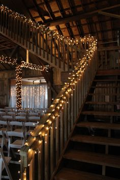 Staircase to upperdeck. Photo by Wanda Hunt http://www.morethanjustafarm.com/