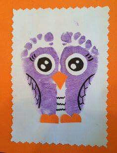 Kid/baby footprint craft