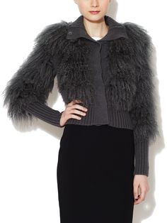 Lambswool Standing Collar Cardigan by Dolce & Gabbana at Gilt