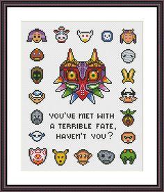 Legend of Zelda Majora's Mask Cross Stitch Pattern PDF