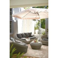 Honolulu Rattan Effect Garden Sofa Set