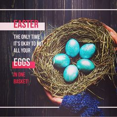 When is the ONLY time it's good to put all your eggs in one basket? Resurrection Day, Workout Humor, Egg Hunt, Happy Easter, Fun Workouts, Easter Eggs, Social Media, Instagram Posts, Farm Life