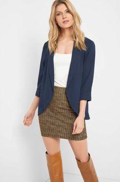Sako s 3/4 rukávy - Modrá Sequin Skirt, Sequins, Skirts, Dresses, Fashion, Vestidos, Moda, Fashion Styles, Skirt