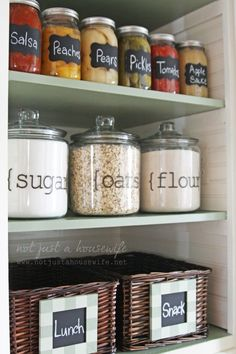 pantry ideas #kitchen #pantry #organization