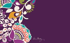 Vera Bradley Downloads page.  Downloads of their patterns for desktop, ipad, and mobile phones.  Download your favorites and check back for new patterns.