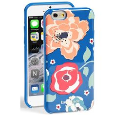 kate spade new york 'april' floral print iPhone 6 case ($20) ❤ liked on Polyvore