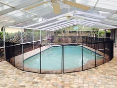 Baby Barrier Pool Safety Fence manufactured right here in the USA out of only the top quality materials.  #PoolFence