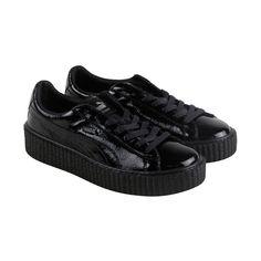 993a2924a1e4 Puma Womens Fenty by Rihanna Black Creeper Wrinkled 36446501 Sneakers Shoes