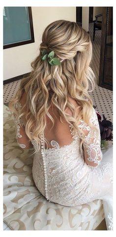 Wedding Hairstyles Half Up Half Down, Wedding Hairstyles For Long Hair, Wedding Hair And Makeup, Hair Makeup, Gorgeous Hairstyles, Half Up Wedding Hair, Bridal Hair Half Up Half Down, Country Wedding Hairstyles, Long Hair Wedding Styles