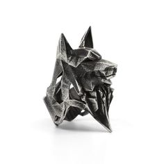 WOLF RING - VvILK Available Metal: Sterling Silver 925 or Bronze Antique Finish Forest Fauna Collection by VvILK Comes in a custom wooden box, made out of reclaimed wood. All our boxes are handmade and one of a kind. Geometric Wolf, Gothic Jewelry, Sterling Silver Rings, Etsy, Lucas Black, Magic Art, Low Poly, Spirit Animal, Bracelet