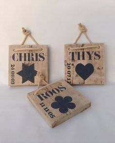 Geboorteplank Scaffolding Wood, Silhouette Cameo Projects, Laser Engraving, Homemade, Pallet, Christmas Ornaments, Toys, Holiday Decor, Woodburning