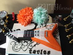 """Photo 1 of 15: Rock n Roll, Guitar, Boy / Birthday """"Party like a Rock Star!"""" 