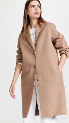 The Shopbop Style Event Sale - Acne Studios Camel Jacket Raw Denim, China Fashion, Apparel Design, Acne Studios, Gq, Green And Grey, Single Breasted, Collars, Duster Coat