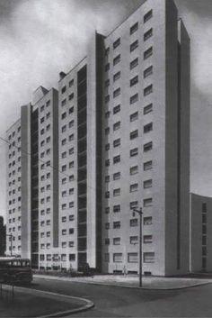 luigi moretti - casa albergo in via corridoni, milano, 1950