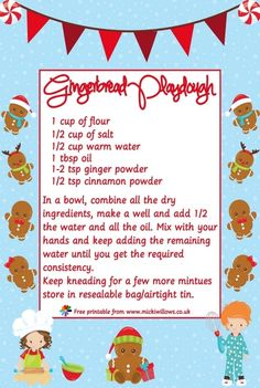 Non cook playdough recipe, perfect for the holiday season, or make layered ingredients in a jar for a great easy gift. Learning Goals, Early Learning, Cooked Playdough, Uk Images, Cinnamon Powder, Expressive Art, Winter Activities, Easy Gifts, Jingle Bells