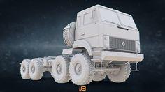 ArtStation - Russian Army Heavy-Duty Off-Road 8X8 Truck URAL-5323, Stanislav Boldienkov