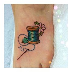 bird needle thread tattoo - Google Search