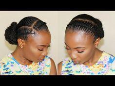 How to - african threading flat twist - low bun hairstyle fo Flat Twist Hairstyles, Braided Hairstyles, Cool Hairstyles, Hairstyle Short, Black Hairstyles, Hairstyle Ideas, Woman Hairstyles, Ethnic Hairstyles, Elegant Hairstyles
