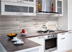 Silver Gray Long Subway Modern Marble Backsplash Tile This unique looking smooth 3″× 23 1/2″ marble subway tile #backsplash speaks loudly without the use of words. #Modern look long size subway backsplash tile. http://backsplash.com