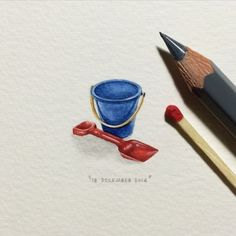 Bucket and Spade  Paintings For Ants: Tiny Paintings That Will Make Your Heart Smile • Page 2 of 5 • BoredBug