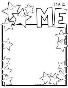 Self Portrait - This Is Me printable - Coloring Club — From the Pond Colouring Pages, Coloring Sheets, Coloring Books, School Coloring Pages, Mardi Gras Activities, Art For Kids, Crafts For Kids, Senior Activities, Senior Gifts