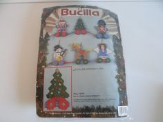 Bucilla Christmas Pull Toys Ornaments Plastic by SecondWindShop
