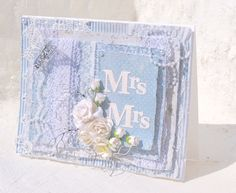Mitt Lille Papirverksted: Mrs & Mrs Scrapbook, Spring, Frame, Projects, Wedding, Vintage, Design, Home Decor, Cards