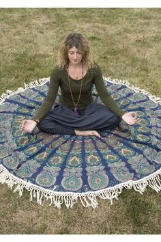 Enhance the good vibes and zen style of your decor or beach adventures with our round mandala fringe tapestry! Mandalas represent a sacred geometry that will bring positive energy to your space, as well as brighten up your walls! This unique round wall hanging can also be used as a tablecloth, bedspread, picnic blanket, and more!