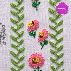 bordado-puntada-margarita-alargada/ - The world's most private search engine Diy Embroidery Patterns, Hand Embroidery Videos, Embroidery Stitches Tutorial, Embroidery Flowers Pattern, Creative Embroidery, Silk Ribbon Embroidery, Brazilian Embroidery, Fabric Crafts, Couture