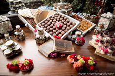 Espectacular mesa de dulces.