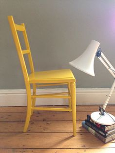 Vintage Retro Yellow High Gloss Vintage Bedroom Chair by baddogstudio @ Etsy http://tidd.ly/b992041d
